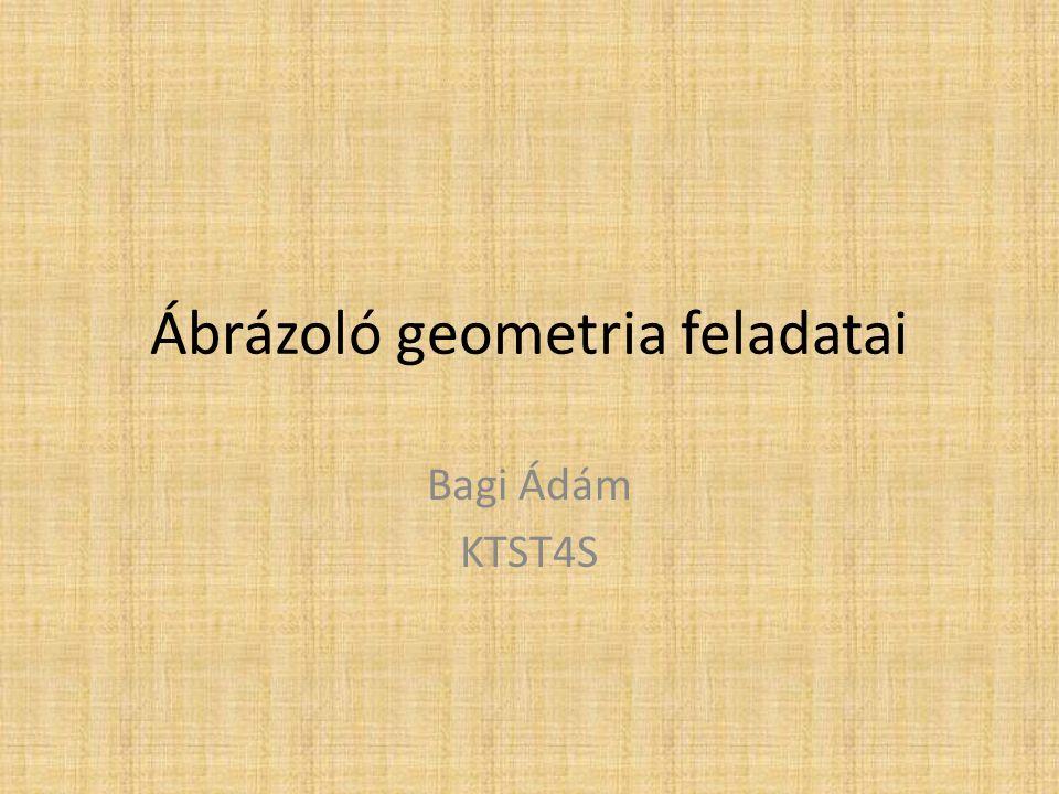 Ábrázoló geometria feladatai