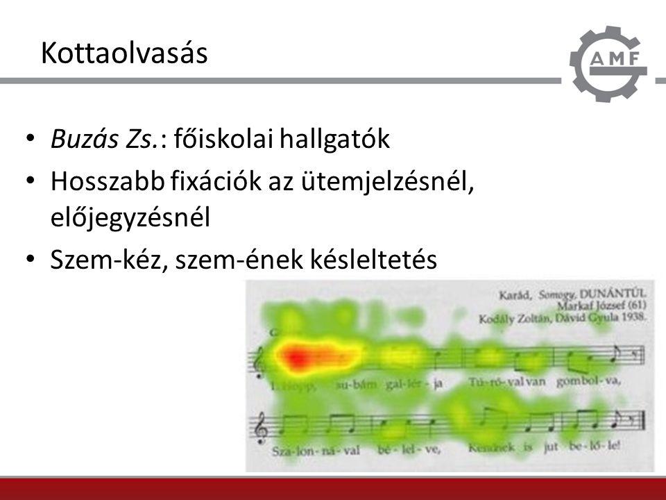 Kottaolvasás Buzás Zs.: főiskolai hallgatók