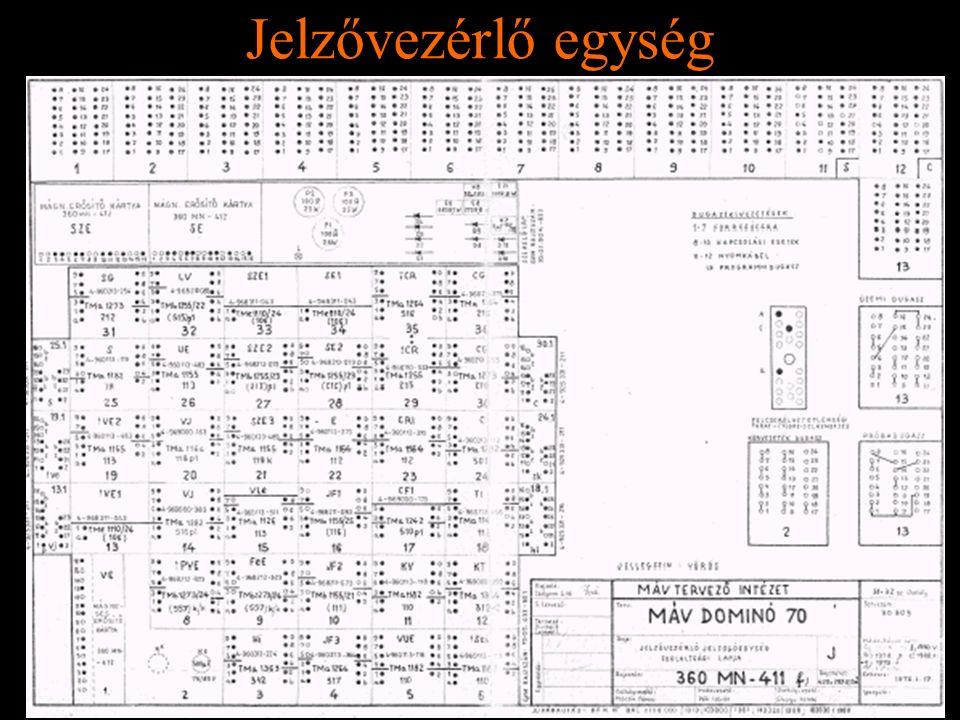 Jelzővezérlő egység Rétlaki Győző: D70 szerkezeti elemek