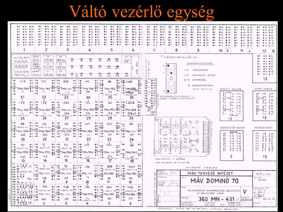 Váltó vezérlő egység Rétlaki Győző: D70 szerkezeti elemek
