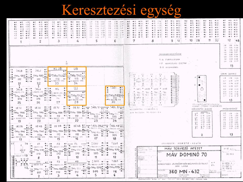 Keresztezési egység Rétlaki Győző: D70 szerkezeti elemek