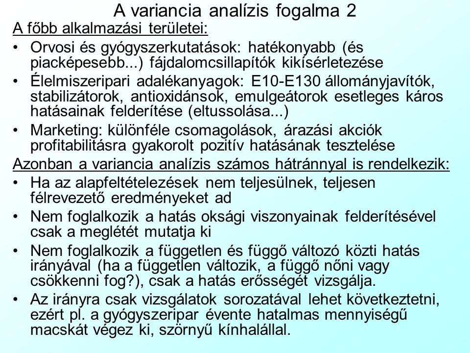 A variancia analízis fogalma 2