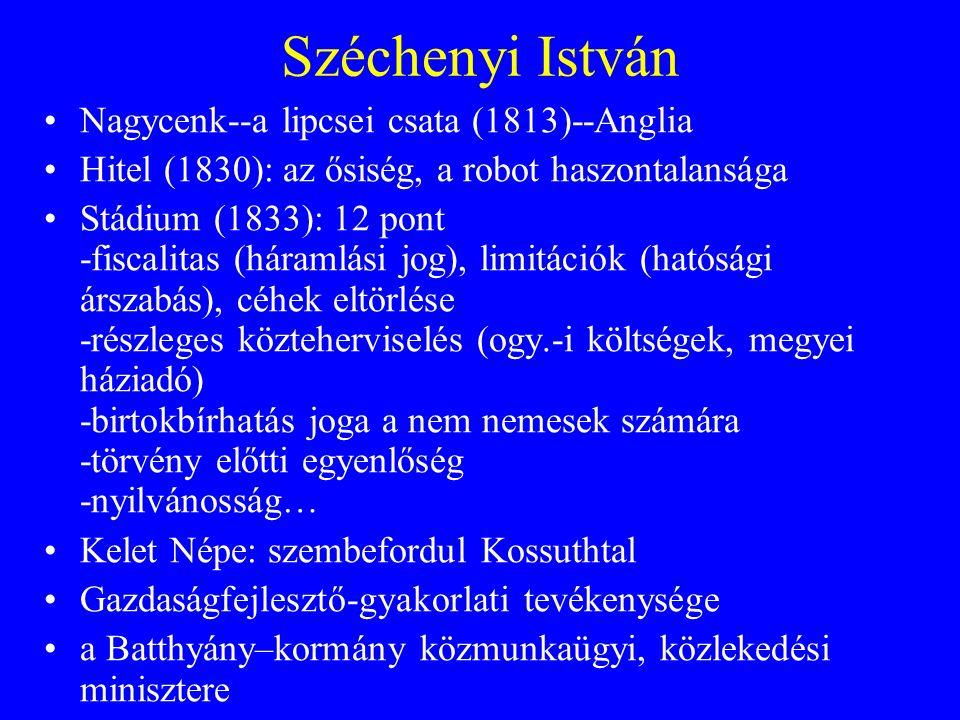 Széchenyi István Nagycenk--a lipcsei csata (1813)--Anglia