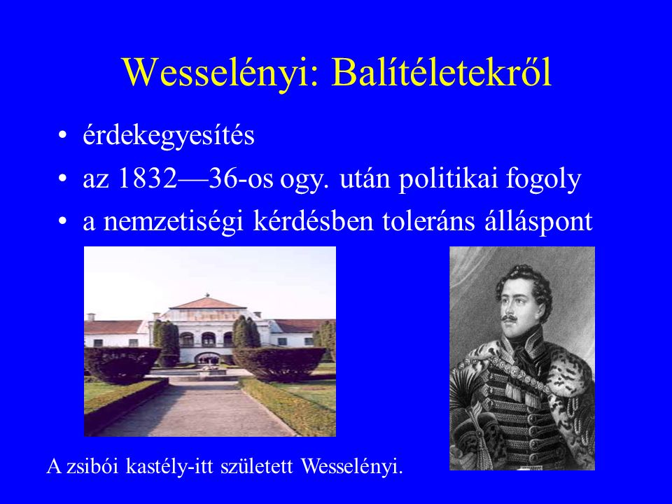 Wesselényi: Balítéletekről
