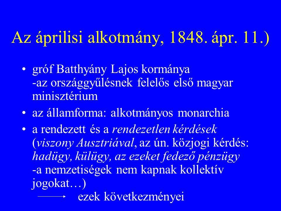 Az áprilisi alkotmány, 1848. ápr. 11.)