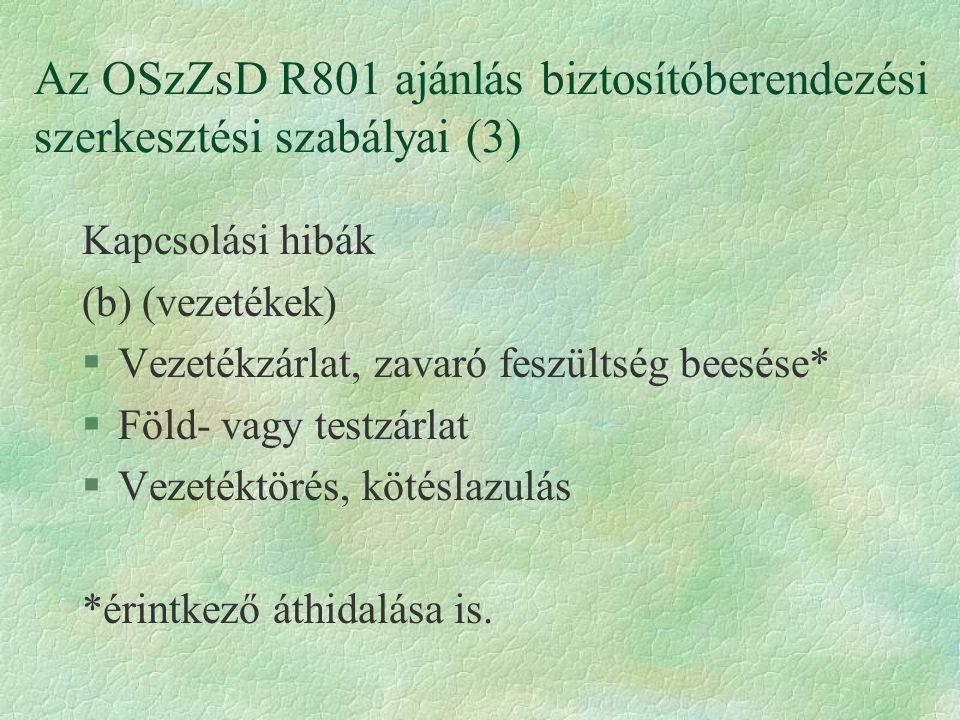Az OSzZsD R801 ajánlás biztosítóberendezési szerkesztési szabályai (3)