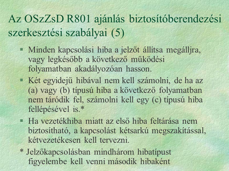 Az OSzZsD R801 ajánlás biztosítóberendezési szerkesztési szabályai (5)