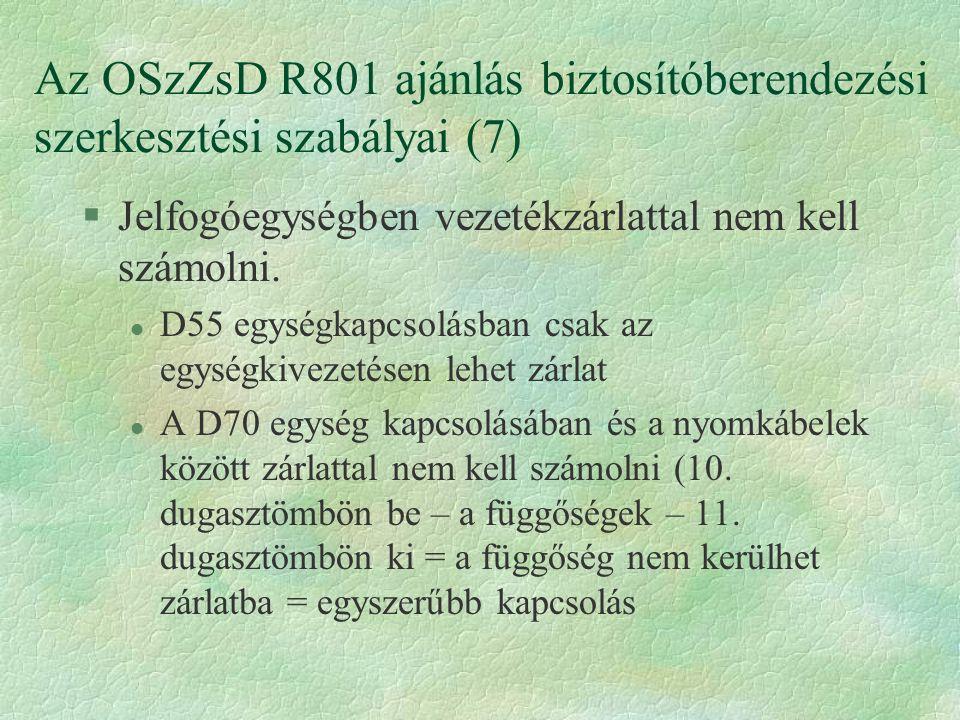 Az OSzZsD R801 ajánlás biztosítóberendezési szerkesztési szabályai (7)