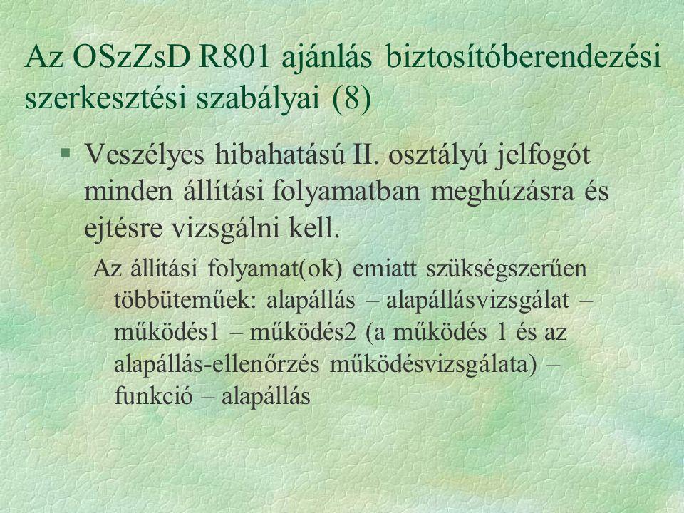 Az OSzZsD R801 ajánlás biztosítóberendezési szerkesztési szabályai (8)