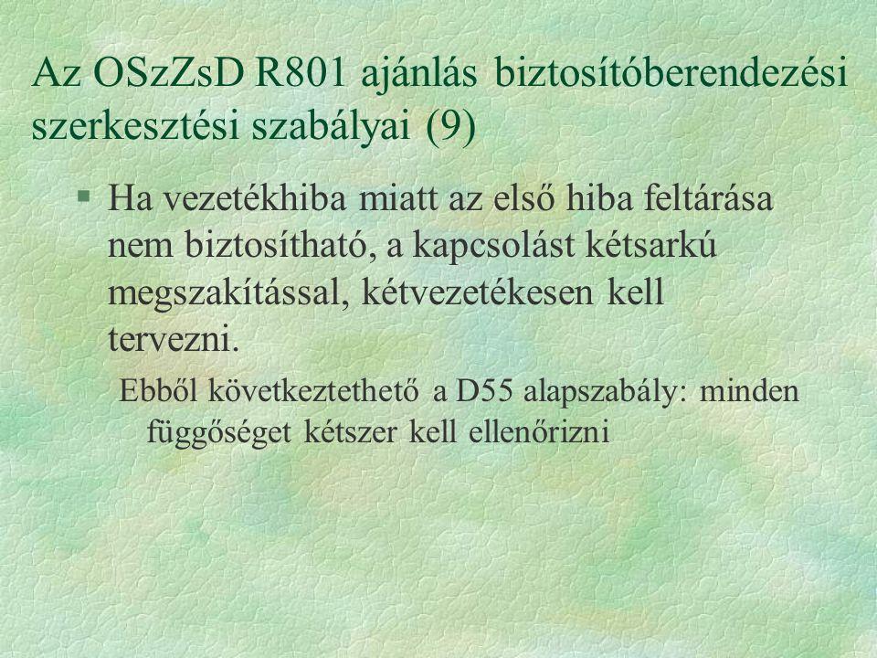 Az OSzZsD R801 ajánlás biztosítóberendezési szerkesztési szabályai (9)
