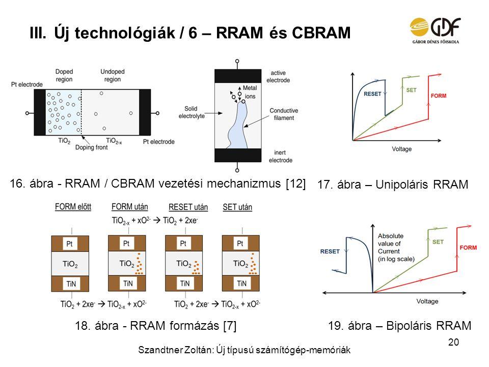 Új technológiák / 6 – RRAM és CBRAM