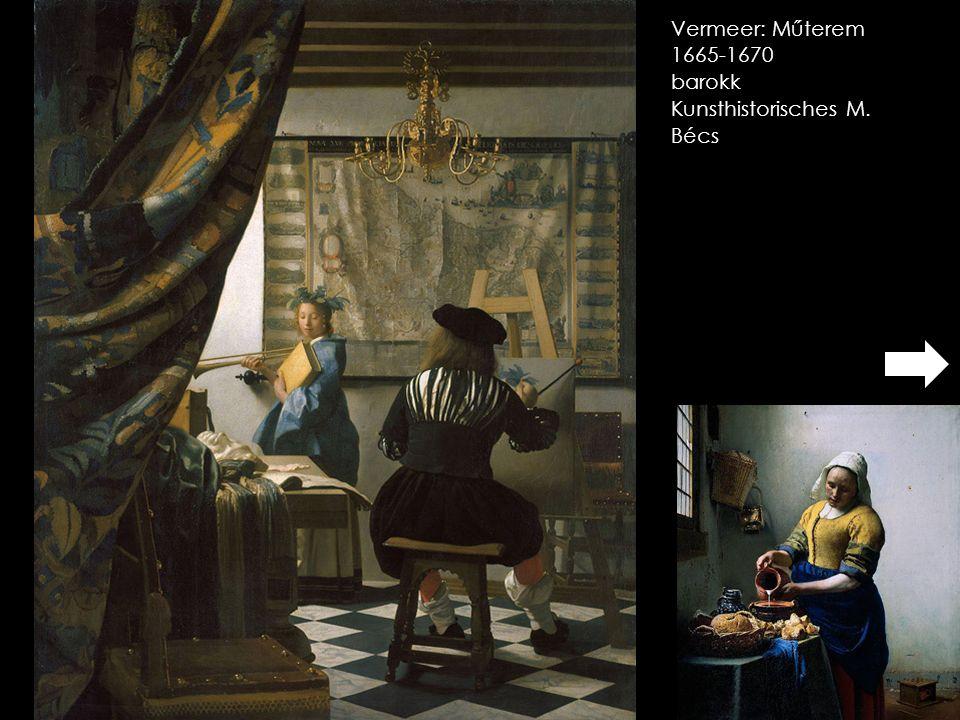 Vermeer: Műterem 1665-1670 barokk Kunsthistorisches M. Bécs