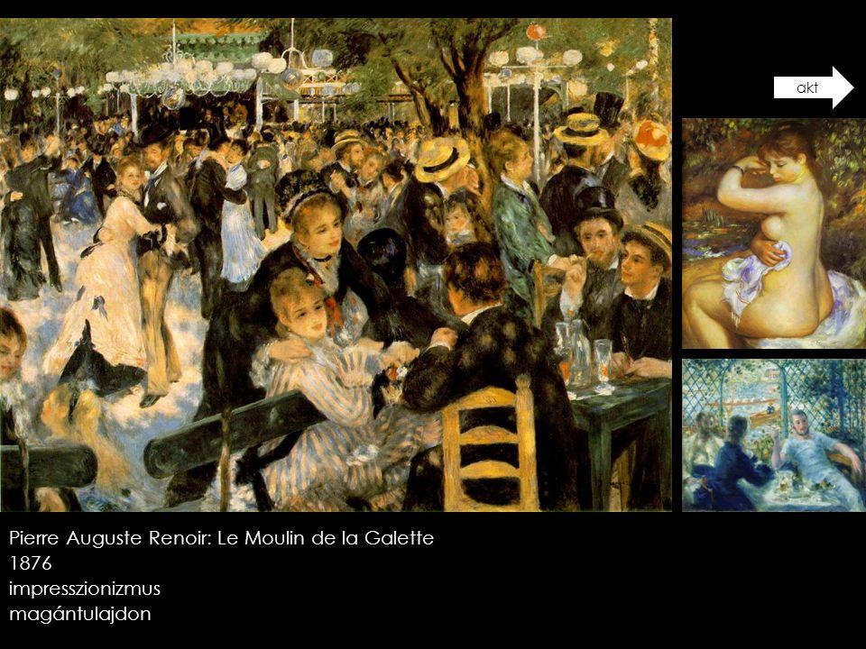 Pierre Auguste Renoir: Le Moulin de la Galette 1876 impresszionizmus
