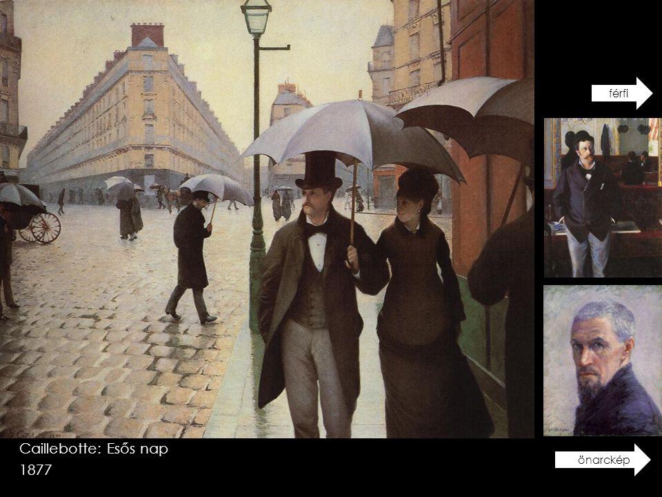 férfi Caillebotte: Esős nap 1877 önarckép