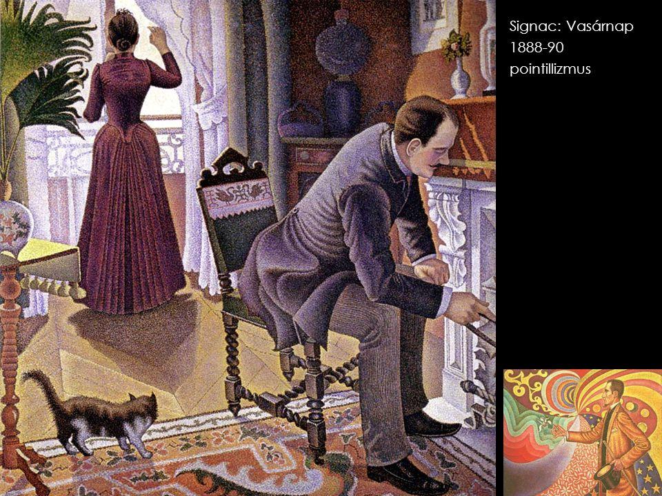 Signac: Vasárnap 1888-90 pointillizmus