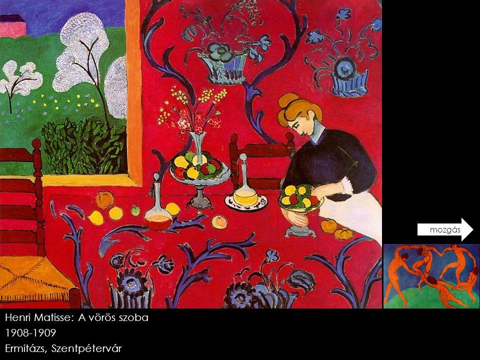 Henri Matisse: A vörös szoba 1908-1909 Ermitázs, Szentpétervár
