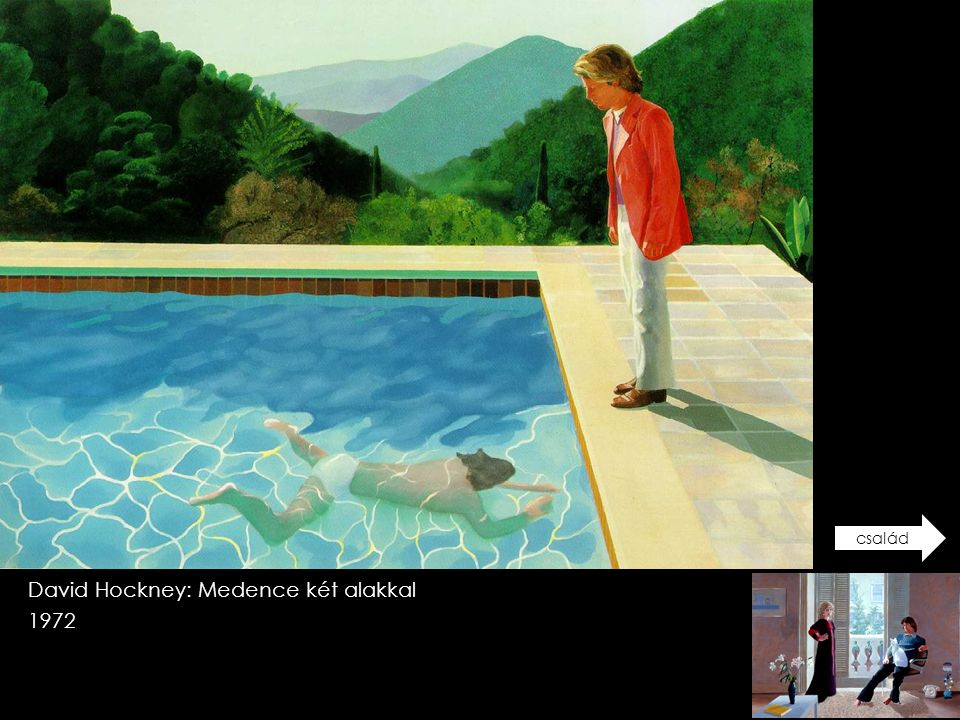 David Hockney: Medence két alakkal 1972