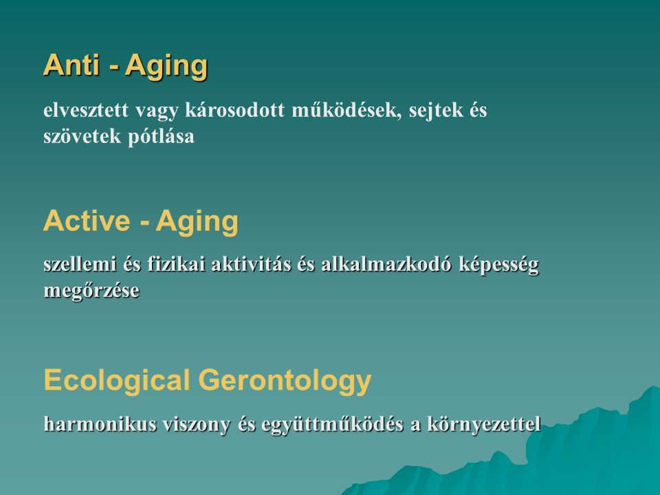 Ecological Gerontology