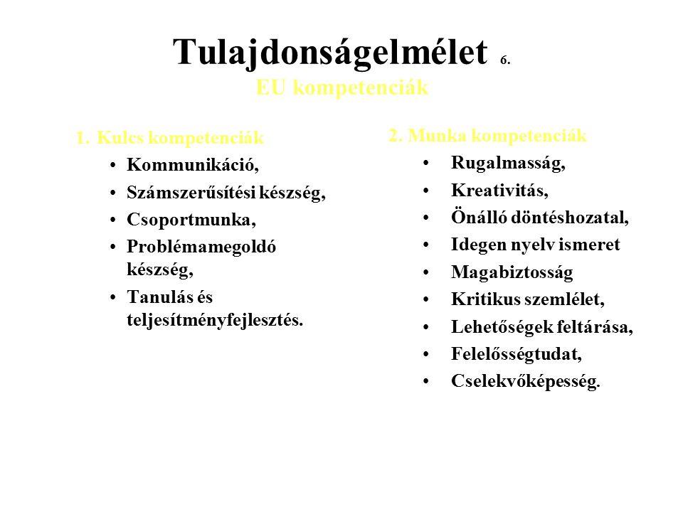 Tulajdonságelmélet 6. EU kompetenciák