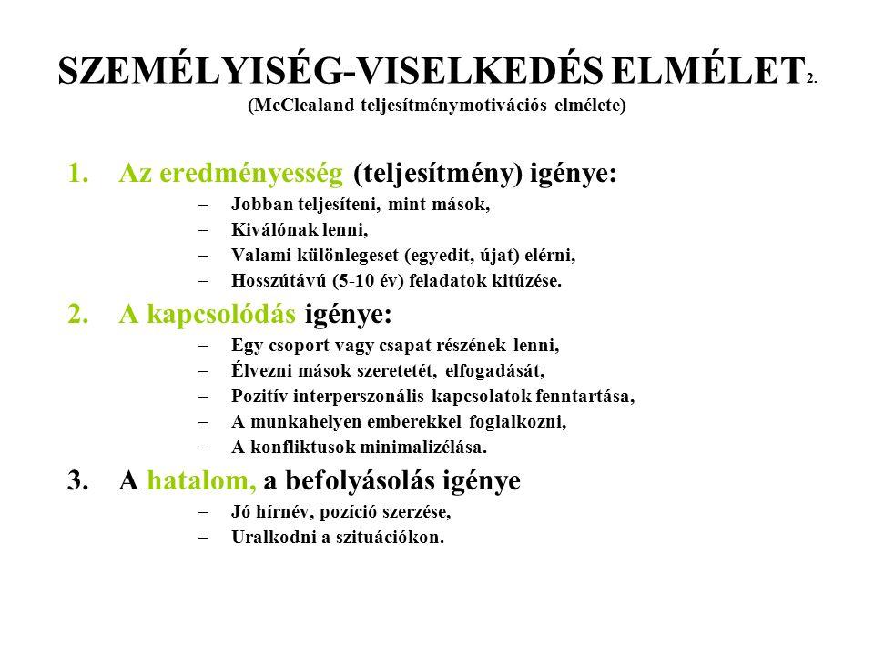 SZEMÉLYISÉG-VISELKEDÉS ELMÉLET2