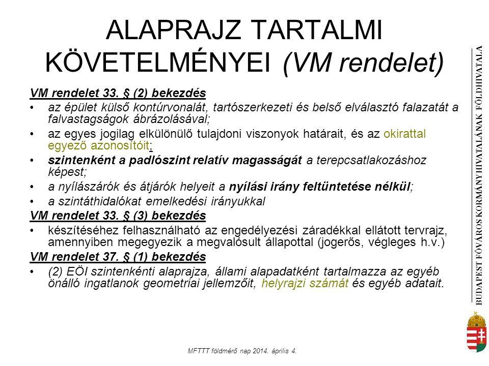 ALAPRAJZ TARTALMI KÖVETELMÉNYEI (VM rendelet)