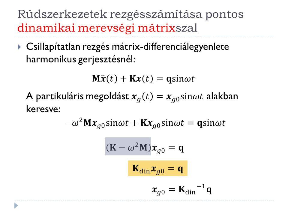 Rúdszerkezetek rezgésszámítása pontos dinamikai merevségi mátrixszal