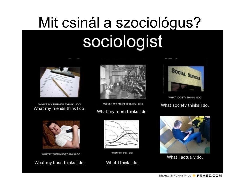 Mit csinál a szociológus