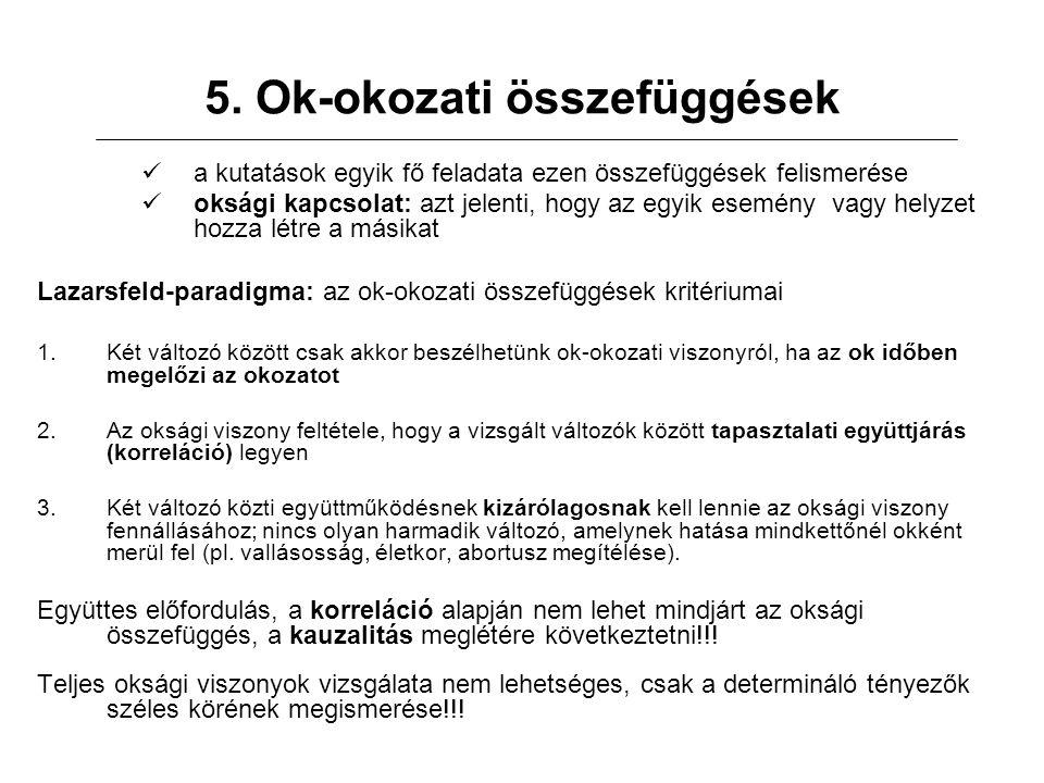 5. Ok-okozati összefüggések