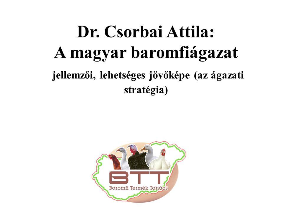 Dr. Csorbai Attila: A magyar baromfiágazat jellemzői, lehetséges jövőképe (az ágazati stratégia)