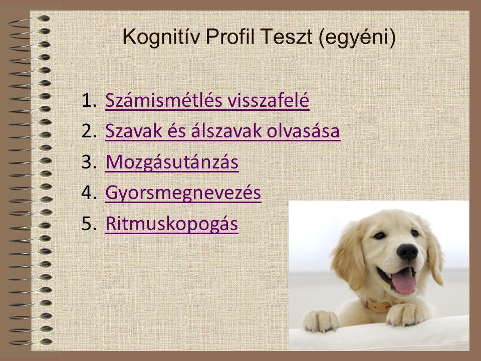 Kognitív Profil Teszt (egyéni)