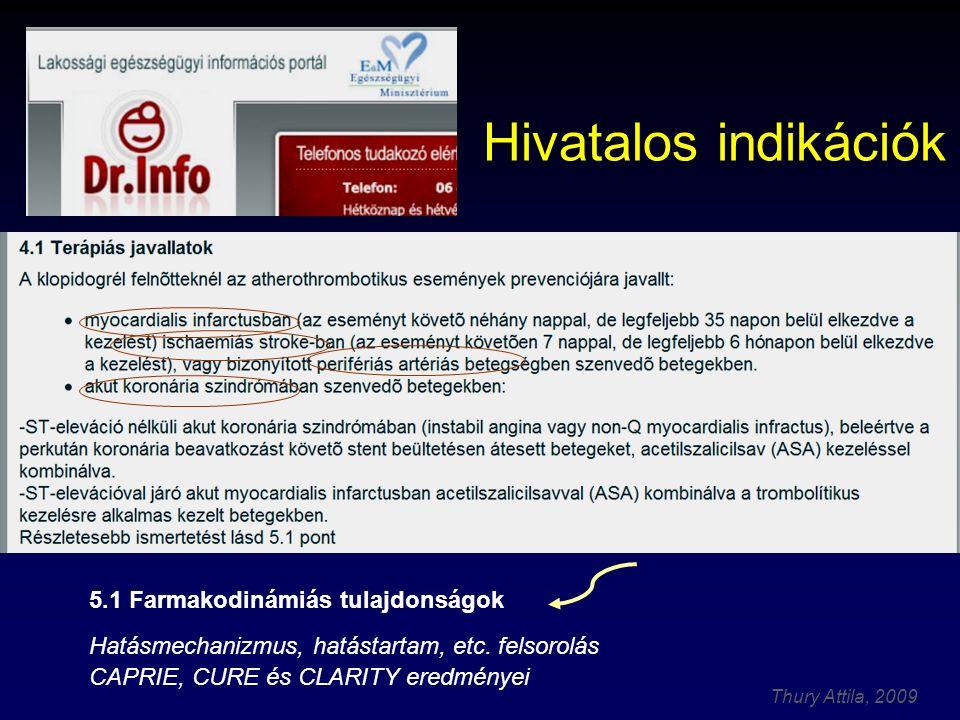 Hivatalos indikációk 5.1 Farmakodinámiás tulajdonságok