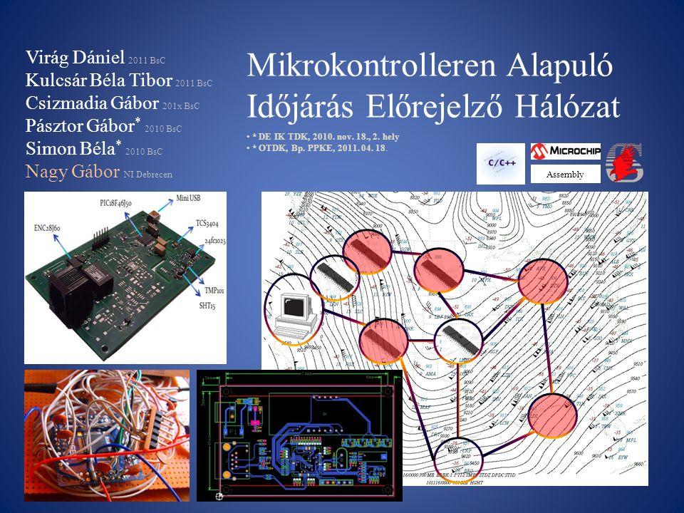 Mikrokontrolleren Alapuló Időjárás Előrejelző Hálózat