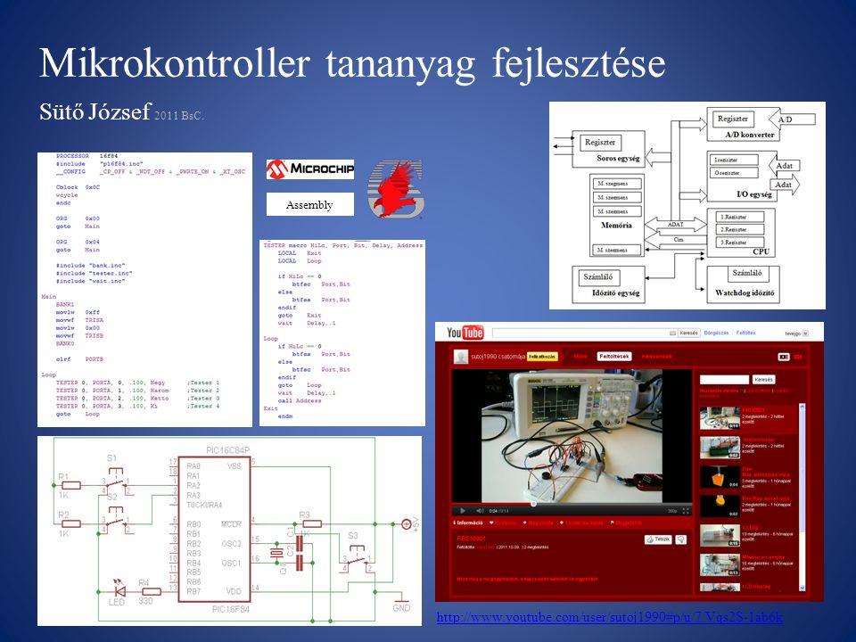 Mikrokontroller tananyag fejlesztése