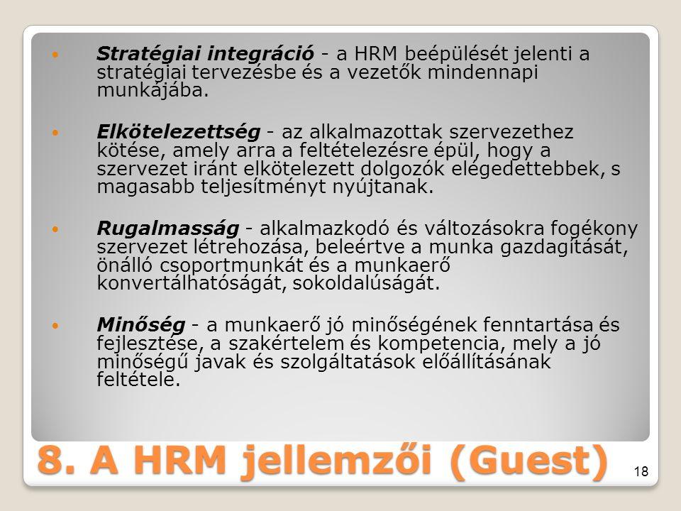 8. A HRM jellemzői (Guest)