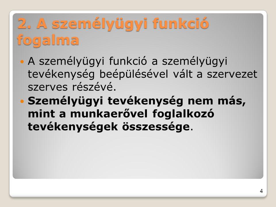 2. A személyügyi funkció fogalma