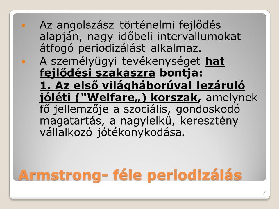 Armstrong- féle periodizálás
