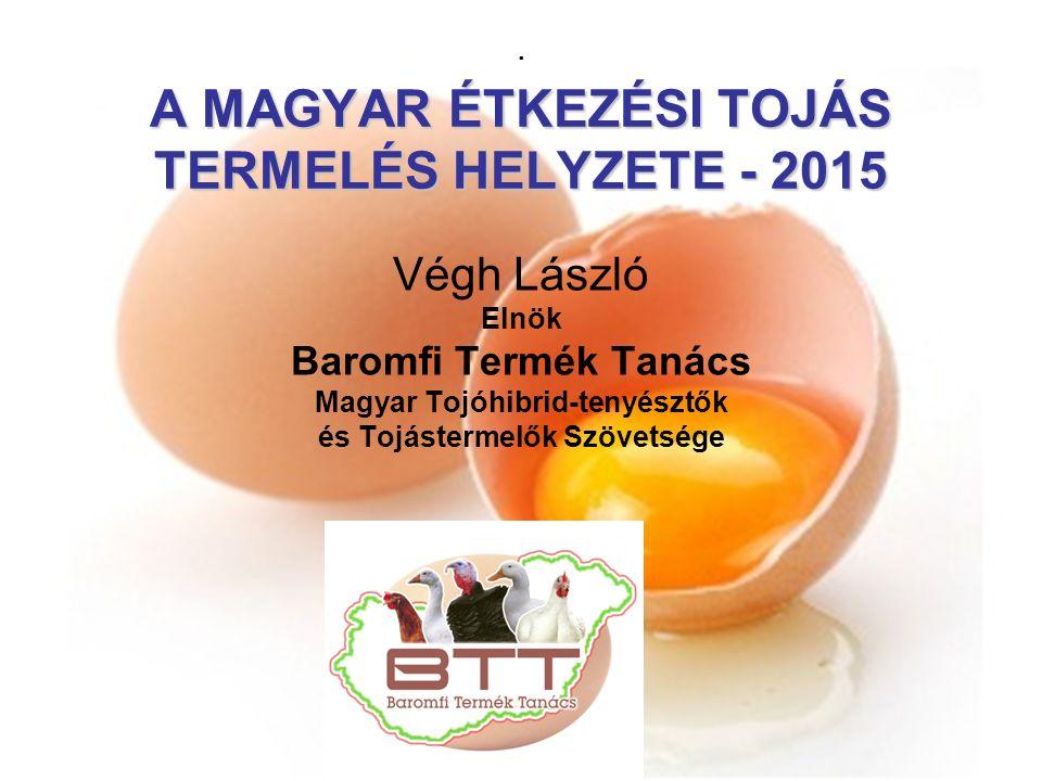 A MAGYAR ÉTKEZÉSI TOJÁS TERMELÉS HELYZETE - 2015