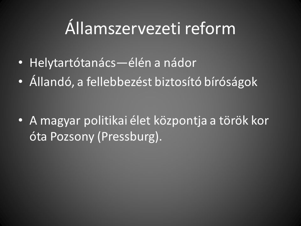 Államszervezeti reform