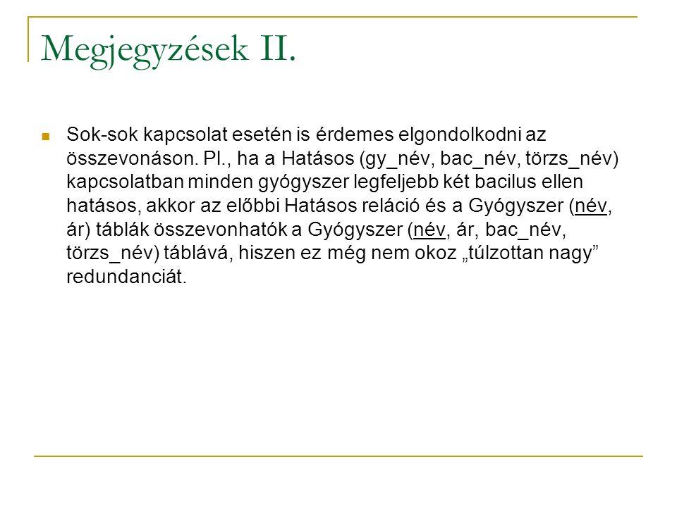 Megjegyzések II.