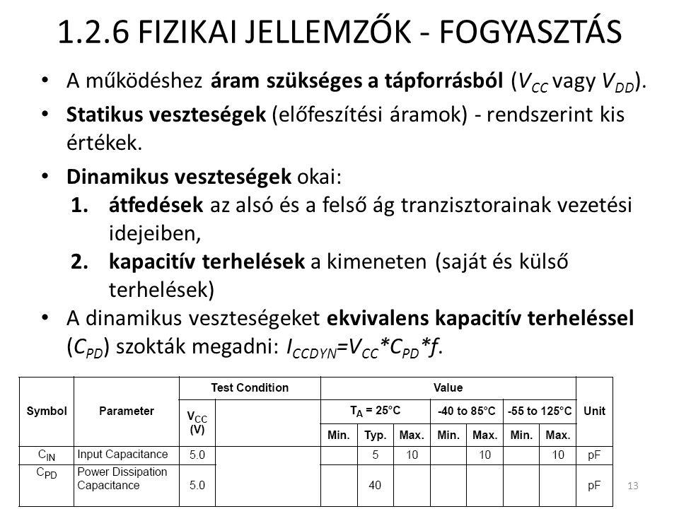 1.2.6 FIZIKAI JELLEMZŐK - FOGYASZTÁS