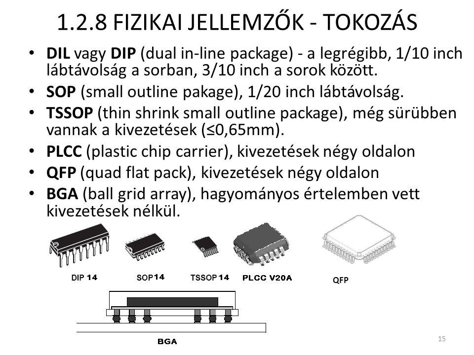 1.2.8 FIZIKAI JELLEMZŐK - TOKOZÁS