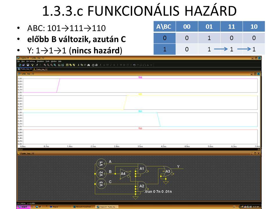 1.3.3.c FUNKCIONÁLIS HAZÁRD ABC: 101→111→110