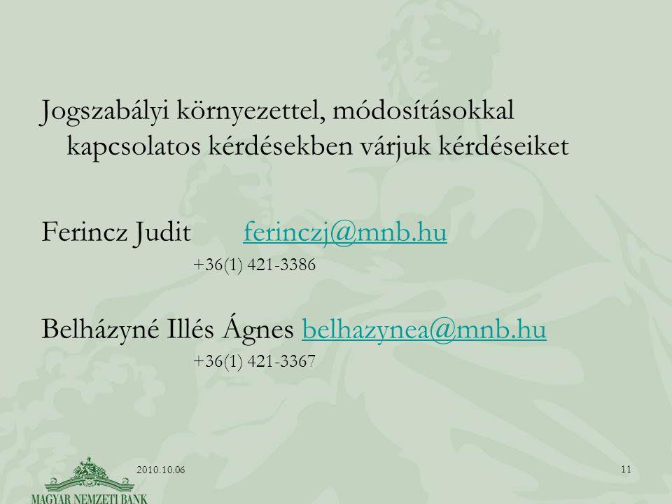 Ferincz Judit ferinczj@mnb.hu