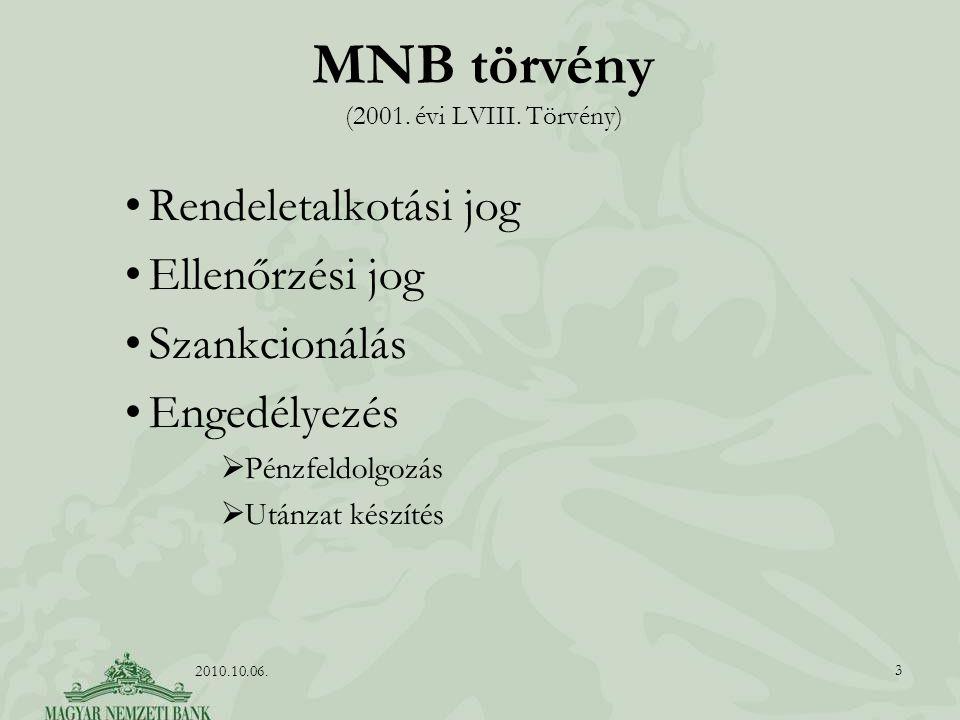 MNB törvény (2001. évi LVIII. Törvény)