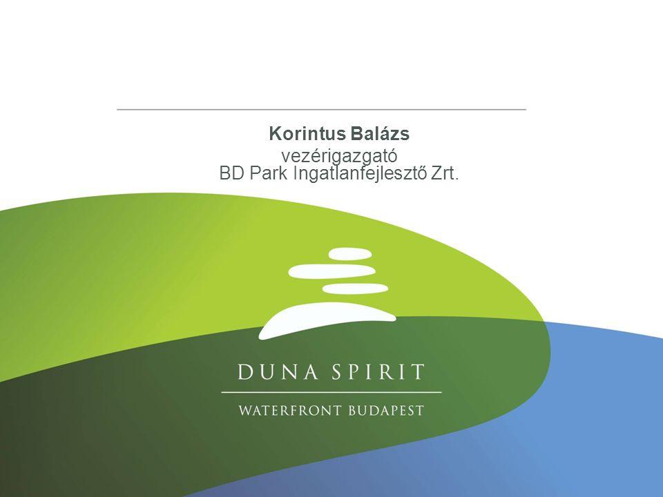 Korintus Balázs vezérigazgató BD Park Ingatlanfejlesztő Zrt.
