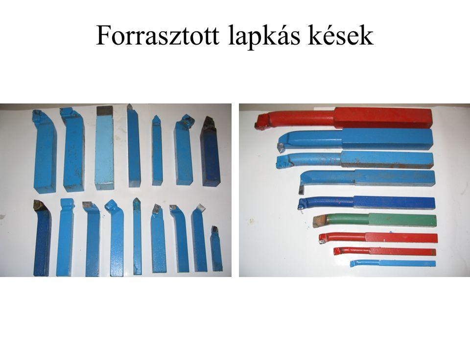 Forrasztott lapkás kések