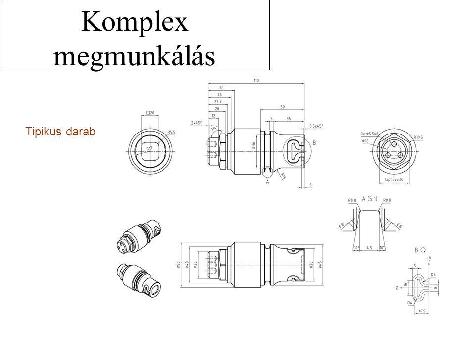 Komplex megmunkálás Tipikus darab