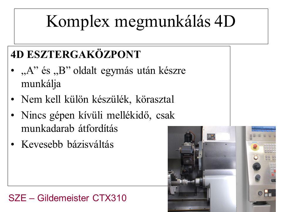 Komplex megmunkálás 4D 4D ESZTERGAKÖZPONT