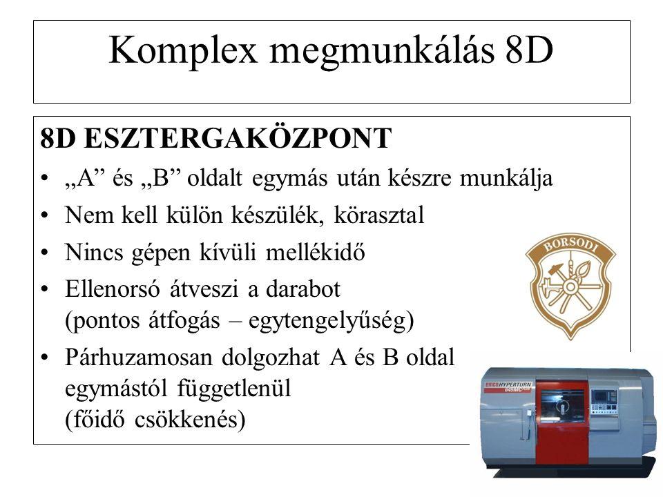 Komplex megmunkálás 8D 8D ESZTERGAKÖZPONT