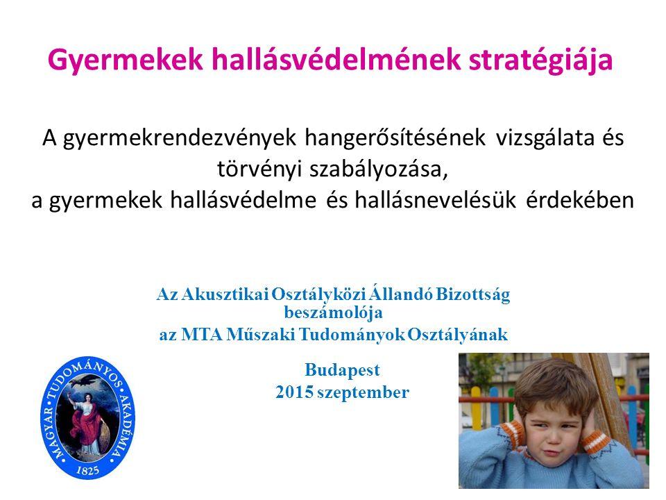 Gyermekek hallásvédelmének stratégiája